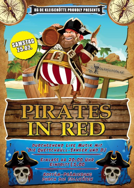 Plakat A6 Pirates InRed20